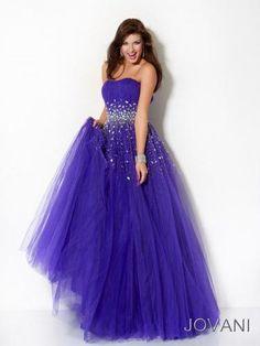 Fashion Purple Strapless Formal Gown