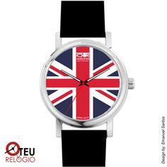 Mostrar detalhes para Relógio de pulso OTR BANDEIRA INGLATERRA LOC 001