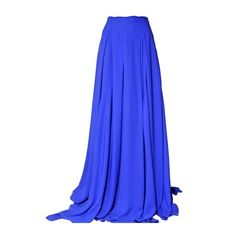 Antonio Berardi Crepe De Chine Long Skirt ($2,673) ❤ liked on Polyvore