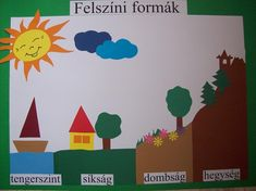 felszíni formák Environmental Studies, Help Teaching, Kids Learning, Green Day, Homeschool, Classroom, School Stuff, Science, Ideas