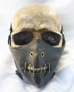 STEAMPUNK MASK-Black Hannibal Lecter Faux Leather by jadedminx
