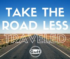 New year, new resolutions! Take the road less traveled Old Gas Stations, Resolutions, Blue Orange, Oil, Cooking Oil, Butter