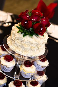 Rose wedding cake tier