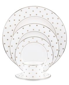 kate spade new york Dinnerware, Larabee Road 5 Piece Place Setting - Fine China - Dining & Entertaining - Macy's Bridal and Wedding Registry