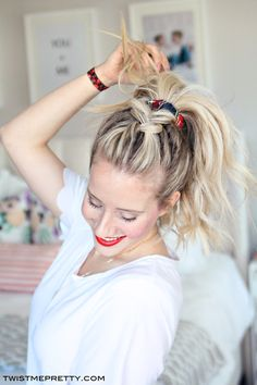 Four darling and super easy hairstyles for rushed mornings! Yes PLEASE!
