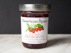 @seriouseats features American Spoon Sour Cherry Preserves as a great jam and cheese pairing.