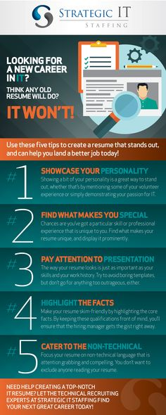 4 Steps to Creating a Visual Resume That Stands Out Resume Tips - resume that stands out