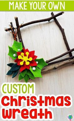 Create a beautiful natural Christmas craft using sticks to create a Christmas wreath. Preschoolers will love using sticks to create their own Christmas wreath to give as a gift. Inexpensive Christmas Presents, Christmas Gifts For Parents, Christmas Wreaths To Make, Kids Christmas, Christmas Decor, Preschool Christmas Crafts, Christmas Craft Projects, Christmas Activities For Kids, Winter Activities