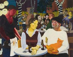 Nicole Eisenman: Beer Garden with Ulrike and Celeste, oil on canvas; 65 x 82 in. Photo courtesy Leo Koenig, Inc., New York Bad Painting, Painting & Drawing, Carnegie Museum Of Art, Art Museum, Pittsburgh City Paper, Leo, San Francisco Museums, New York, Artwork Images