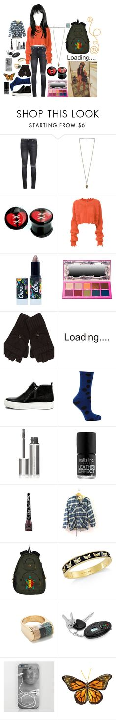 """""""Blake Gutierrez 22"""" by stockmon ❤ liked on Polyvore featuring RtA, Unravel, Lime Crime, River Island, Steve Madden, Nümph, Givenchy, Nails Inc., Kat Von D and Kate Spade"""