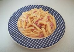 Foto principal de Macarrones a la carbonara (Olla Gm G) Olla Gm G, Tapas, Pasta, Cabbage, Bacon, Vegetables, Food, Al Dente, Mathematical Model