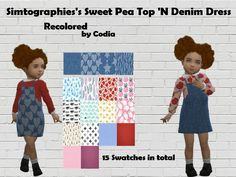 -15 New Swatches for the Dress and the Top Found in TSR Category 'Sims 4 Toddler Female'