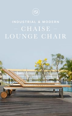 Lounge in comfort and modern style with the Siro Chaise Lounge Chair, made from solid stainless steel and natural teak wood. Two rear wheels allow you to easily move this contemporary lounger to your perfect place in the sun.