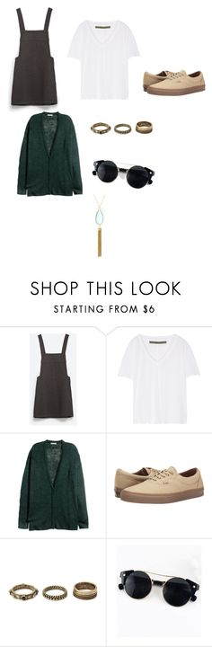 """""""Untitled #31"""" by heyairca ❤ liked on Polyvore featuring Zara, Enza Costa, H&M, Vans and Forever 21"""