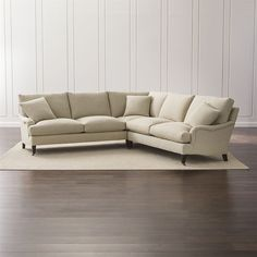 Crate & Barrel Essex 2-Piece Sectional Sofa with Casters (5,920 CAD) ❤ liked on Polyvore featuring home, furniture, sofas, crate and barrel furniture, crate and barrel couch, crate and barrel sectional, crate and barrel sofa and crate and barrel