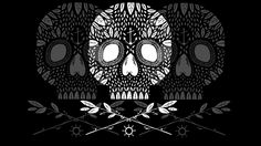 White skulls design by Hana Saller