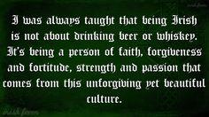 Beautifully said.  I am proud to be Irish.