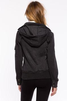 Куртка с капюшоном  Размеры: S, M, L Цвет: угольный, черный Цена: 1625 руб.  #одежда #женщинам #куртки #коопт