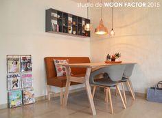 RESULTAAT 06: #Indelingsplan, #meubeladvies, #meubelontwerp (tafel), #lichtplan, #kleuradvies en #stylingadvies door studio de WOON FACTOR.