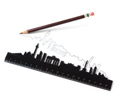 Berlin. Use the straight side of the ruler for everyday measuring or take the scenic route when you have time to spare. The perfect gift to bring home from your travels. Available for: London, Paris, New York, Amsterdam, Toronto and Jerusalem.