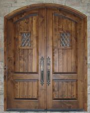 Old World Exterior Wood Front Entry Door DbyD-3028