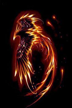 Obsidian Phoenix by TheWoodWyrm on DeviantArt Phoenix Artwork, Phoenix Wallpaper, Phoenix Drawing, Phoenix Images, Dragon Artwork, Mystical Animals, Mythical Creatures Art, Phoenix Tattoo Design, Phoenix Tattoos