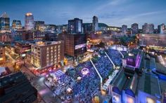 Discover the Quartier des Spectacles of Montreal, one of the most awarded neighborhoods for its cultural and artistic events. Montreal Ville, Of Montreal, Montreal Vacation, Places To Travel, Places To See, Festival Jazz, Cheap Flights And Hotels, Lac Saint Jean, Road Trip