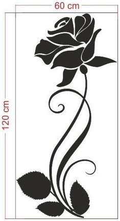Stencil Templates, Stencil Patterns, Stencil Designs, Embroidery Patterns, Rosa Stencil, Stencil Painting, Fabric Painting, Glass Etching Stencils, Doodle Drawing
