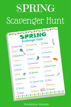 This printable scavenger hunt is a great way to get outdoors and spend some quality family time together. #printables #freeprintables #scavengerhunt #spring