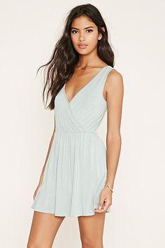 Surplice-Front Mini Dress