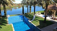 Florida is about the water, visually open the horizon with an infinity pool design. Horizon Pools, Pool Designs, Infinity, Plush, Florida, Golf, French, Country, Water