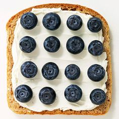 Ian wil love this. Whipped cream cheese and blueberries