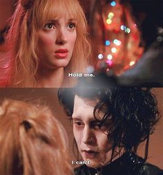 Winona Ryder and Johnny Depp in Edward Scissorhands