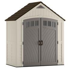 Suncast Covington Gable Storage Shed (Common: 7-ft x 4-ft; Actual Interior Dimensions: 6.84-ft x 3.67-ft)