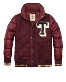 Another cool Bomber in Bordeaux color by Scotch Shrunk