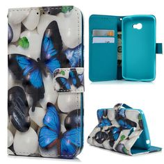 leather wallet case on sale at reasonable prices, buy from mobile site on Aliexpress Now! Leather Wallet, Pu Leather, Lg Cases, Colorful Paintings, Slot, 3d Printing, Butterfly, Cover, Cards