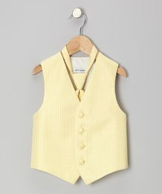 Take a look at this Yellow Square Vest - Toddler & Boys I bought at zulily today!