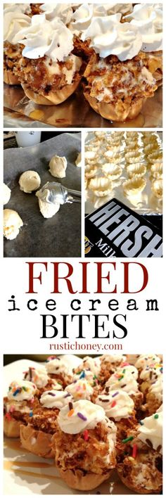 Fried Ice Cream Bites - Easy, no-fry, dessert for cinco de mayo or any summer gathering!