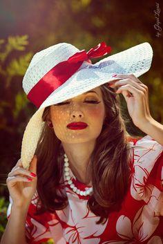 beautiful sun hat