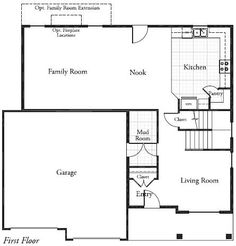 floor plan ~ change living room to bedroom and stair space to bathroom and make this all one floor home.
