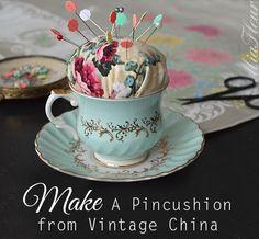 How to make a tea cup pincushion- MiaFleur