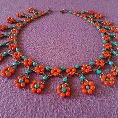 #incirboncuk Bahar kolyemiz #miyuki #kolye #küpe #siparis #hediye #sevgiliyehediye #sevgililergunu #bileklik #elemegigoznuru #ethnic #dailywork #earrings #pair #flovers #red #green #boncuk #cicek