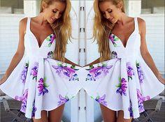 Womens-Sleeveless-Flower-Print-Sweet-Sexy-Dress