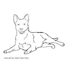 Australian Cattle Dog Line Art