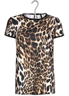 leopard printed top by MANGO