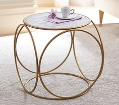 Marble Top Side Table #pbkids