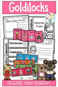 Goldilocks and the Three Bears Reading and Writing Pack Daily 5 Activities, Sight Word Activities, Classroom Activities, Reading Comprehension Strategies, Writing Strategies, Reading Resources, Writing Posters, Goldilocks And The Three Bears, Inspired Learning