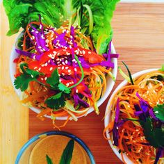 FUNKY FOREST FOOD: Pad Thai with Creamy Tahini Dressing (RV, GF)