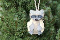 Raccoon Owl in Felt Woodland Costume // Christmas by OrdinaryMommy