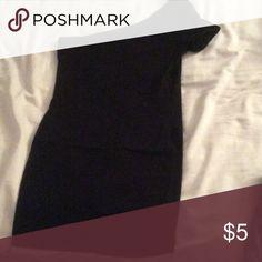 One shoulder little black dress Size small Dresses